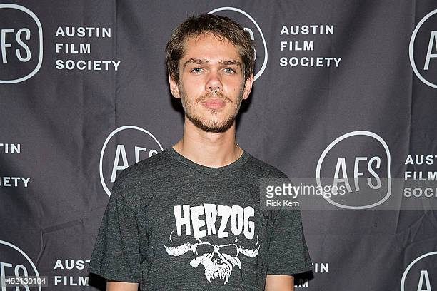 Actor Ellar Coltrane poses for a photo during the premiere of 'Boyhood' at Marchesa Hall & Theater on July 13, 2014 in Austin, Texas.