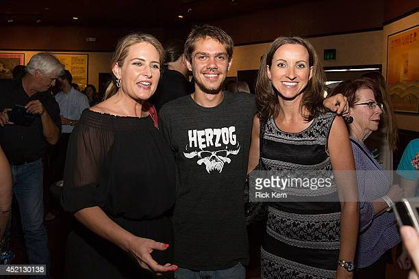 Actor Ellar Coltrane poses for a photo with guests during the premiere of 'Boyhood' at Marchesa Hall & Theater on July 13, 2014 in Austin, Texas.
