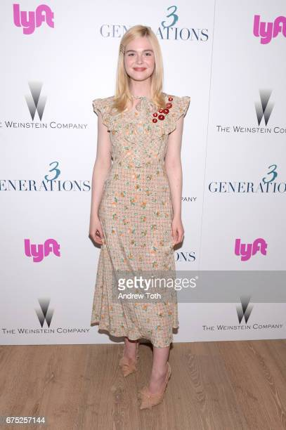 Actor Elle Fanning attends a screening of 3 Generations hosted by The Weinstein Company at the Whitby Hotel on April 30 2017 in New York City