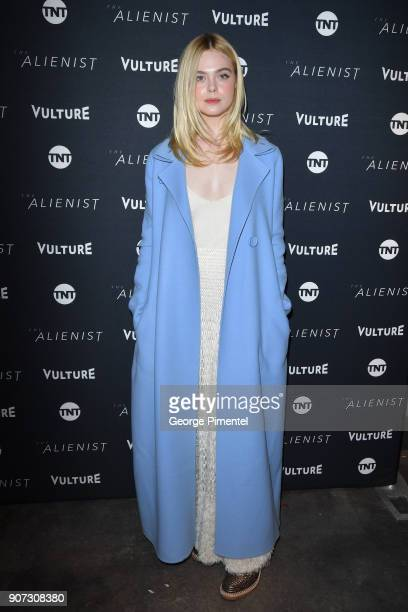 Actor Elle Fanning attends 'The Alienist' Special Screening during Sundance Film Festival 2018 at The Vulture Spot on January 19 2018 in Park City...