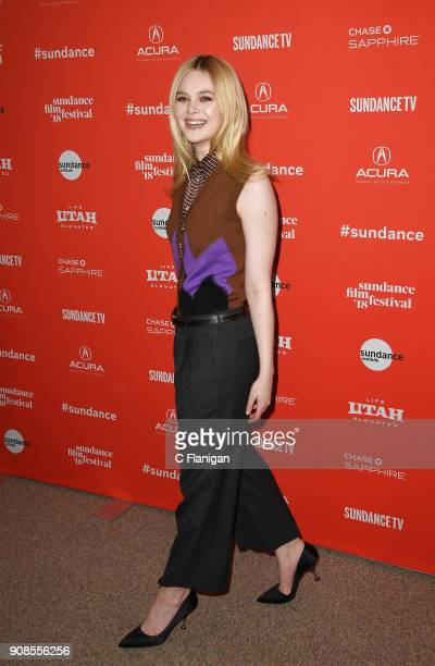 Actor Elle Fanning attends the 'I Think We're Alone Now' Premiere during 2018 Sundance Film Festival at Egyptian Theatre on January 21 2018 in Park...