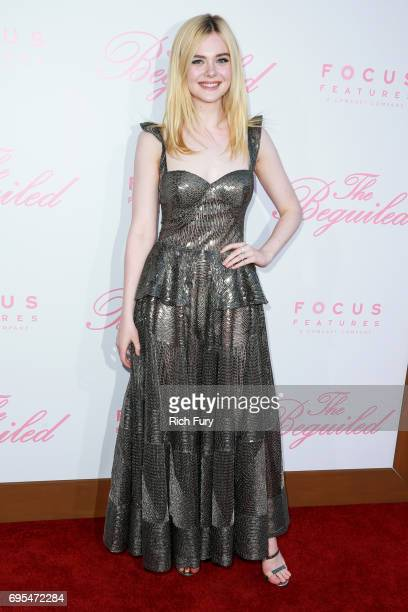 Actor Elle Fanning attends the premiere of Focus Features' 'The Beguiled' at Directors Guild Of America on June 12 2017 in Los Angeles California