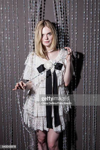 Actor Elle Fanning is photographed for Paris Match on May 20 2016 in Cannes France