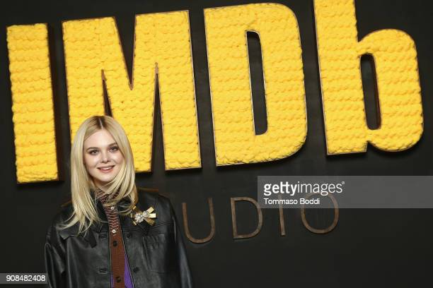Actor Elle Fanning of 'I Think We're Alone Now' attends The IMDb Studio and The IMDb Show on Location at The Sundance Film Festival on January 21...