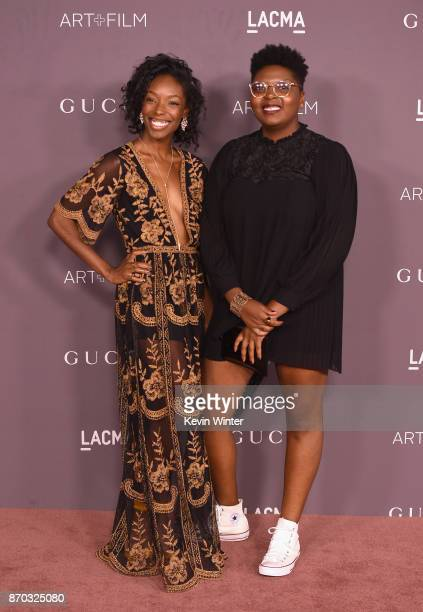 Actor Elle Lorraine and Dime Davis attend the 2017 LACMA Art + Film Gala Honoring Mark Bradford And George Lucas at LACMA on November 4, 2017 in Los...