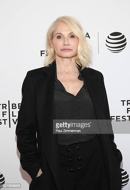 "Actor Ellen Barkin attends the Series Premiere of TNT's New Original Drama, ""Animal Kingdom"" during Tribeca Film Festval at SVA Theatre 1 on April..."