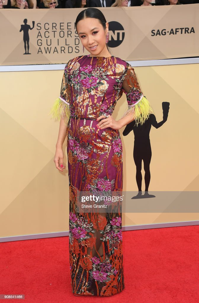 Actor Ellen Wong attends the 24th Annual Screen ActorsGuild Awards at The Shrine Auditorium on January 21, 2018 in Los Angeles, California.