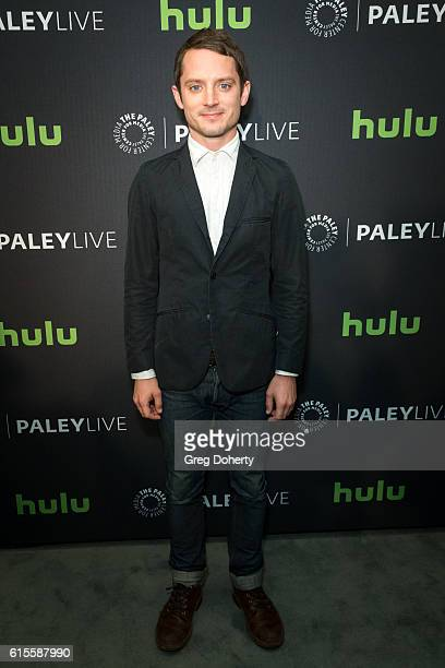 Actor Ellijah Wood arrives for the PaleyLive LA Dirk Gently's Holistic Detective Agency Premiere Screening And Conversation at The Paley Center for...