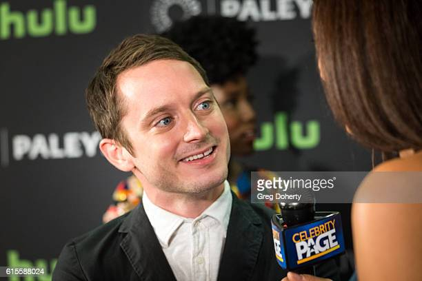 "Actor Ellijah Wood arrives for the PaleyLive LA - ""Dirk Gently's Holistic Detective Agency"" Premiere Screening And Conversation at The Paley Center..."