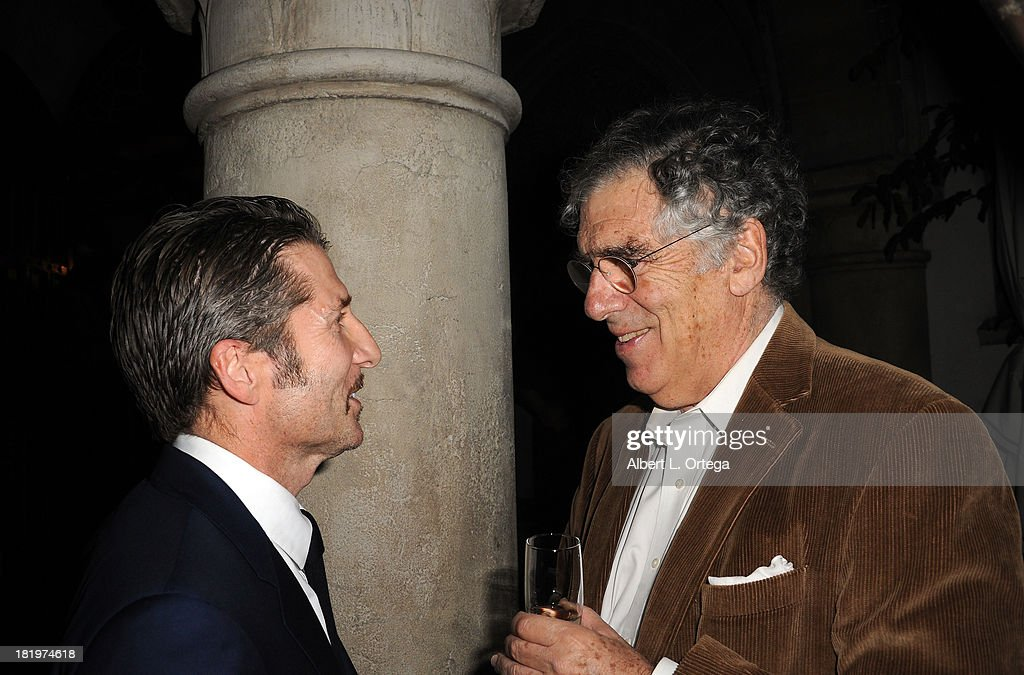 Actor Elliot Gould and actor/director Leland Orser attend C Magazine Dinner And Reception Celebrating Leland Orser's 'Morning' held at Chateau Marmont on September 26, 2013 in West Hollywood, California.