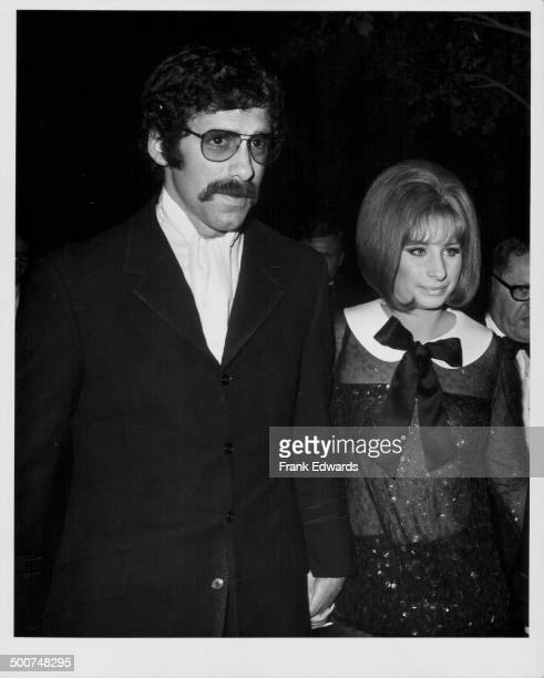 Actor Elliot Gould and his wife, singer Barbara Steisand, attending the Academy Awards, Los Angeles, April 14th 1969.