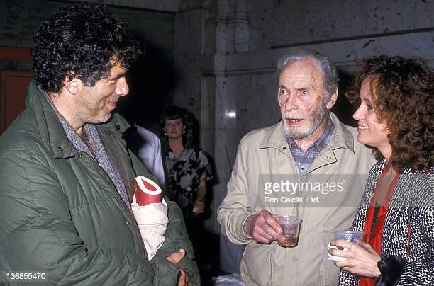Actor Elliott Gould actor Barry Sullivan and daughter Jenny Sullivan attend the Special Stage Reading of Studs Terkel's Hard Times An Oral History of...
