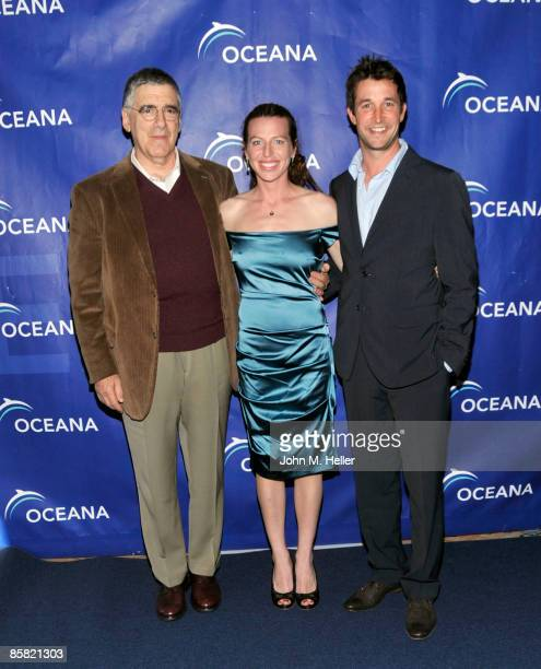 Actor Elliott Gould actor Tanna Frederick and actor Noah Wyle attend the 2009 Project Save Our Surf 1st Annual Surfathon and Oceana Awards at...