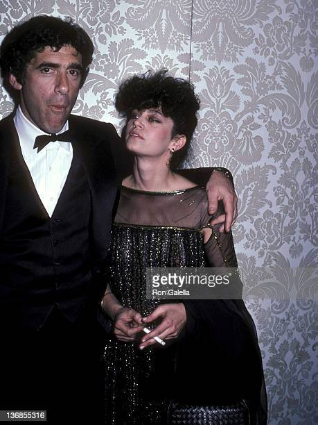 Actor Elliott Gould and wife Jennifer Bogart attend the 39th Annual Golden Globe Awards on January 30 1982 at the Beverly Hilton Hotel in Beverly...