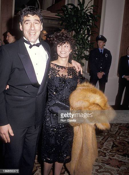 Actor Elliott Gould and wife Jennifer Bogart attend the 42nd Annual Golden Globe Awards on January 27 1985 at the Beverly Hilton Hotel in Beverly...