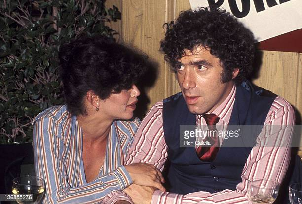 Actor Elliott Gould and wife Jennifer Bogart attend the Sting Trophy Poker Championship on May 25 1977 at Chasen's Restaurant in Beverly Hills...