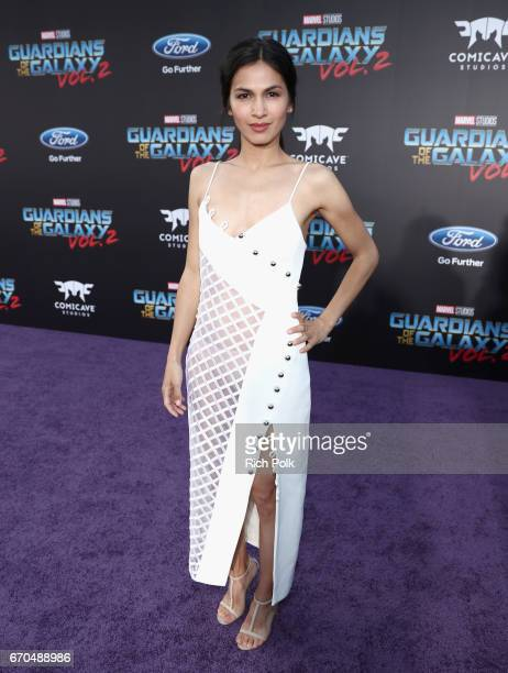 "Actor Elodie Yung at The World Premiere of Marvel Studios' ""Guardians of the Galaxy Vol 2"" at Dolby Theatre in Hollywood CA April 19th 2017"