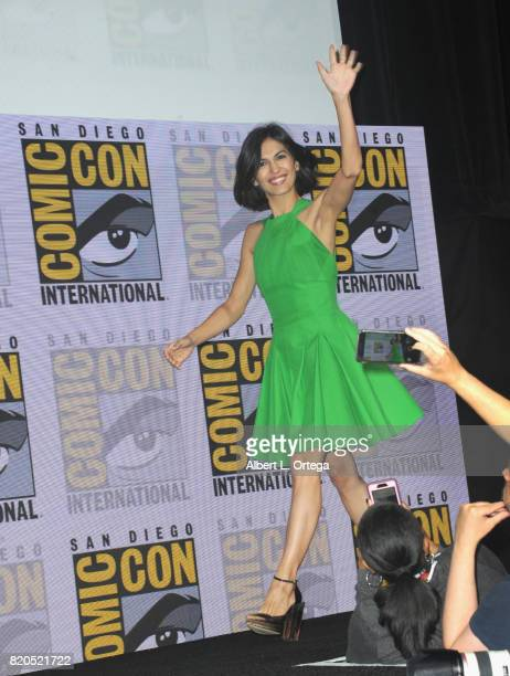 Actor Elodie Yung walks onstage at Netflix's 'The Defenders' panel during ComicCon International 2017 at San Diego Convention Center on July 21 2017...