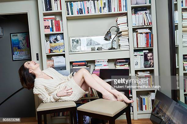 Actor Elsa Zylberstein is photographed for Paris Match on December 15 2015 in Paris France