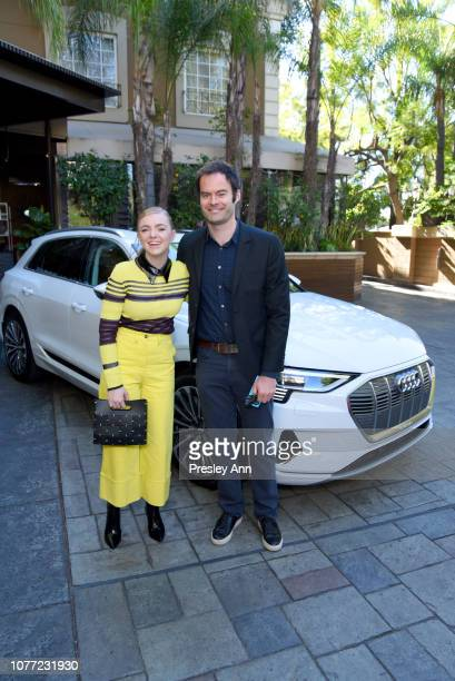 Actor Elsie Fisher and actorexecutive producer of Barry Bill Hader attend the 2018 AFI Awards Luncheon presented by Audi at Four Seasons Hotel Los...
