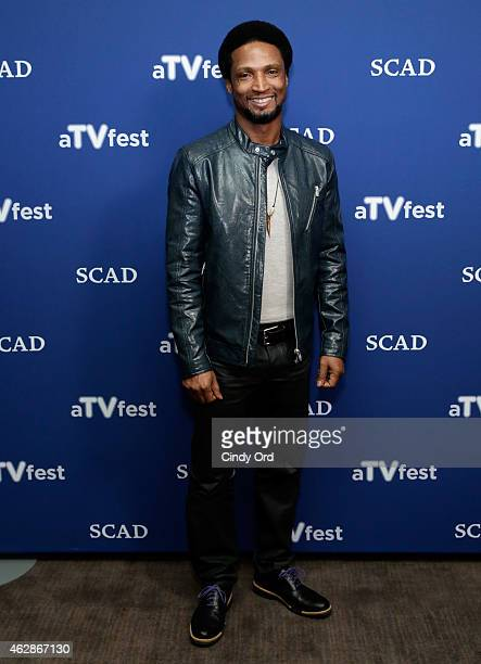 Actor Elvis Nolasco attends the 'American Crime' press junket during aTVfest presented by SCAD on February 6 2015 in Atlanta Georgia