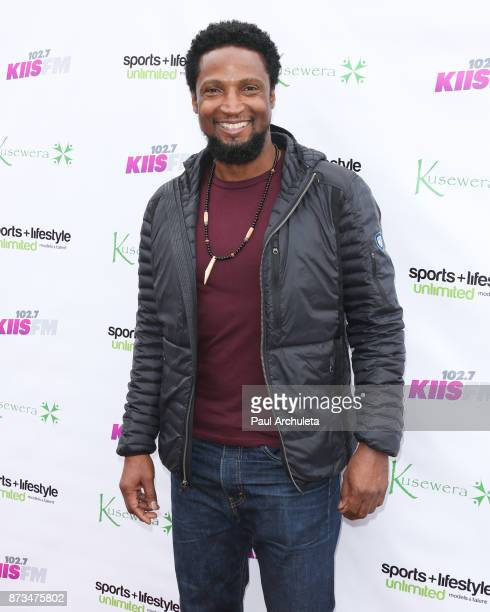 Actor Elvis Nolasco attends the Kusewera celebrity basketball game at Notre Dame High School on November 12 2017 in Sherman Oaks California
