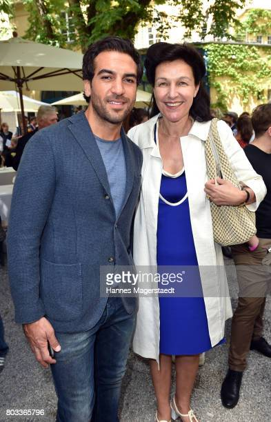 Actor Elyas MÕBarek and Bettina Reitz attend the FFF reception during the Munich Film Festival 2017 at Praterinsel on June 29 2017 in Munich Germany