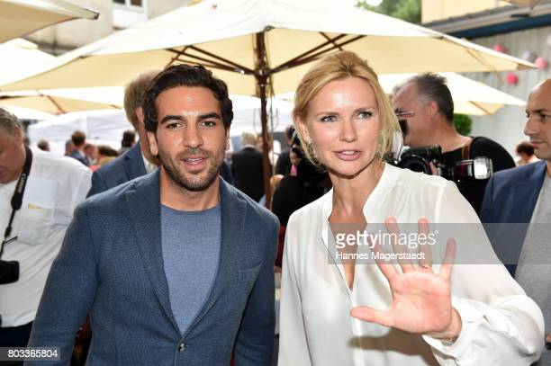 Actor Elyas MÕBarek and Veronica Ferres attend the FFF reception during the Munich Film Festival 2017 at Praterinsel on June 29 2017 in Munich Germany