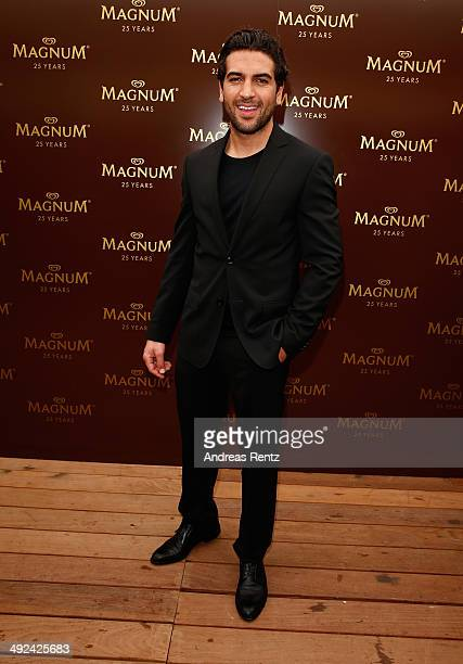 Actor Elyas M'Barek attends a photocall to launch the 25th anniversary Magnum short film by Wim Wenders at the 67th Annual Cannes Film Festival on...