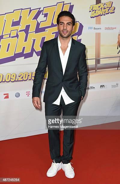 Actor Elyas M'Barek attends the 'Fack ju Goehte 2' Munich Premiere at Mathaeser Filmpalast on September 7 2015 in Munich Germany