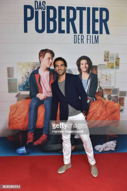 Actor Elyas M'Barek during the ''Das Pubertier'' premiere at Mathaeser Filmpalast on July 4 2017 in Munich Germany