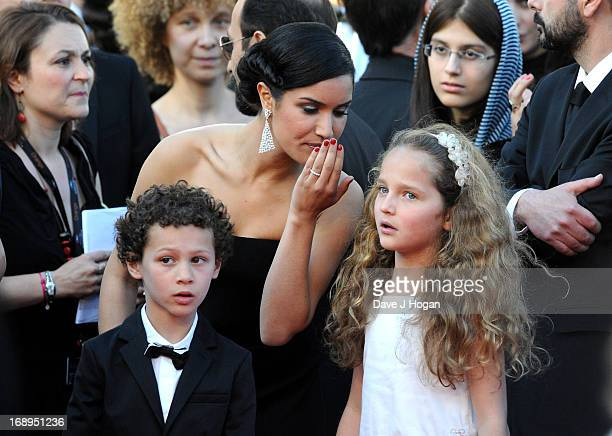 Actor Elyes Aguis and actresses Sabrina Ouazani and Jeanne Jestin attend the Premiere of 'Le Passe' during The 66th Annual Cannes Film Festival at...