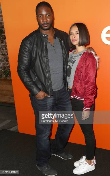 Actor Eme Ikwuakor and actress Sonya Balmores attend Ember Launch Celebrating a Journey Through Temperature and Taste at Goya Studios on November 8...
