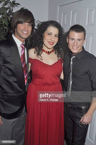 Actor Emerson Collins actress Julie Garny and Singer Blake McIver at SPARKLE An AllStar Holiday Concert at ACME Comedy Theatre on December 13 2013 in...