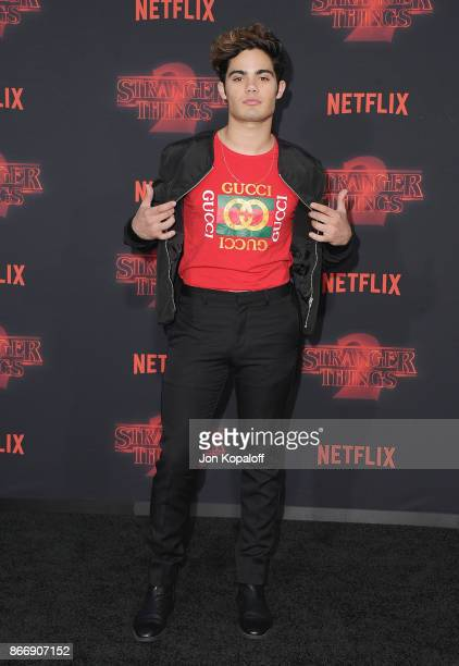 Actor Emery Kelly arrives at the premiere of Netflix's 'Stranger Things' Season 2 at Regency Bruin Theatre on October 26 2017 in Los Angeles...