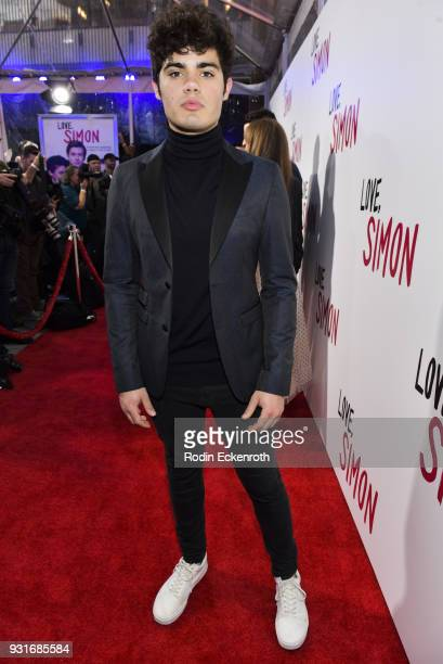 Actor Emery Kelly attends a special screening of 20th Century Fox's 'Love Simon' at Westfield Century City on March 13 2018 in Los Angeles California