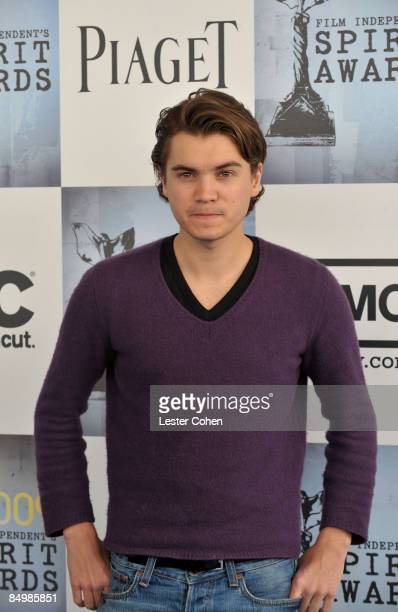 Actor Emile Hirsch arrives at Film Independent's 2009 Independent Spirit Awards sponsored by Piaget held at the Santa Monica Pier on February 21 2009...