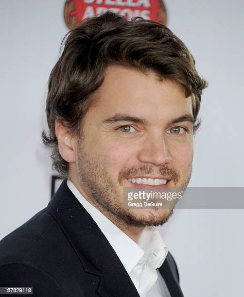 Actor Emile Hirsch arrives at the AFI FEST 2013 for the 'Lone Survivor' premiere at TCL Chinese Theatre on November 12 2013 in Hollywood California