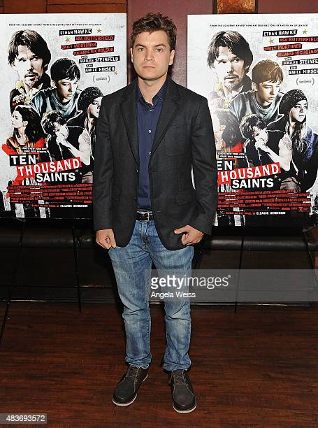 Actor Emile Hirsch attends a special screening of Archer Gray's 'Ten Thousand Saints' at Piknic on August 11 2015 in Century City California