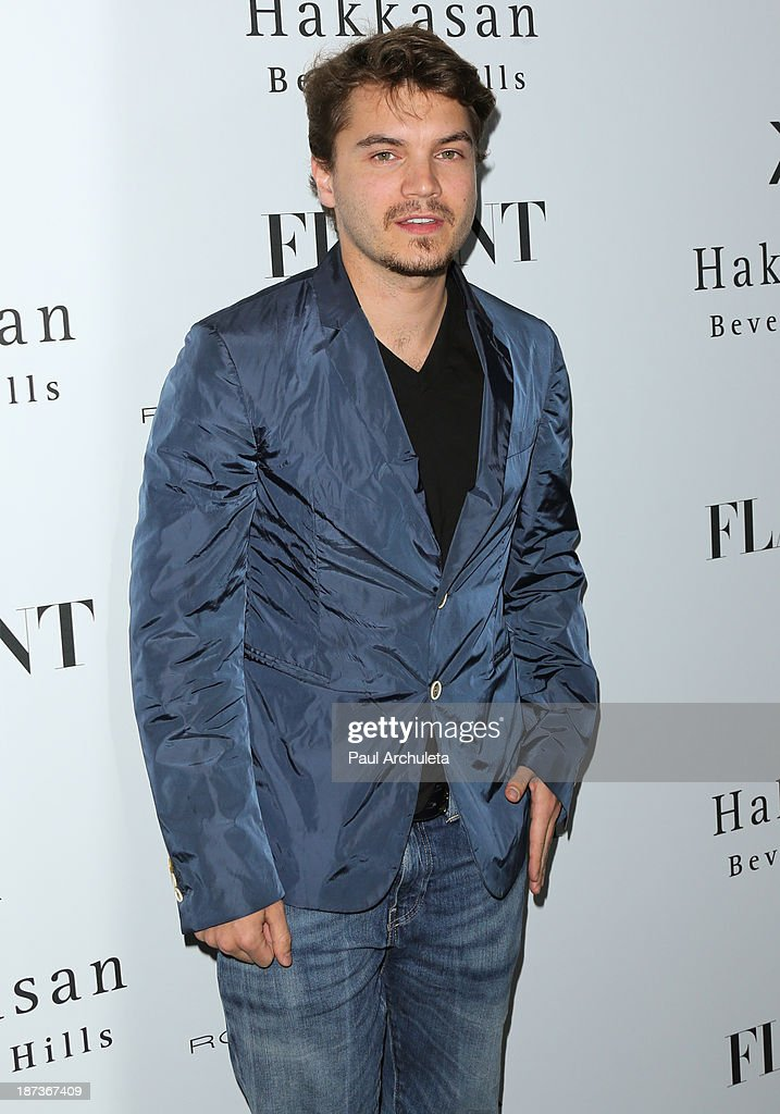 Actor Emile Hirsch attends Flaunt magazine En Garde! issue launch party on November 7, 2013 in Beverly Hills, California.