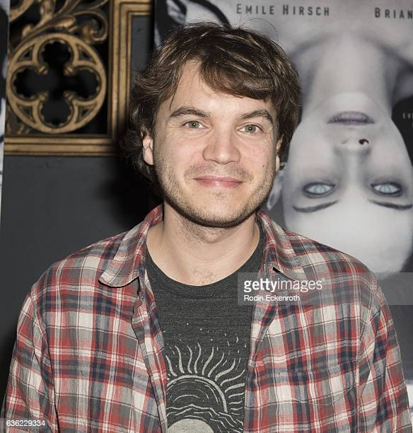 Actor Emile Hirsch attends screening of 'The Autopsy of Jane Doe' at Ace Hotel on December 19 2016 in Los Angeles California