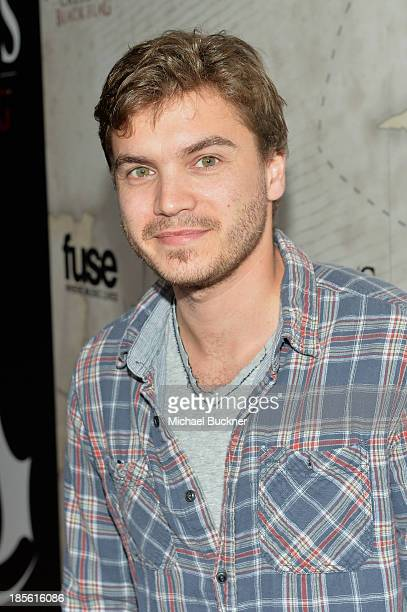 Actor Emile Hirsch attends the Assasin's Creed IV Black Flag Launch Party at Greystone Manor Supperclub on October 22 2013 in West Hollywood...