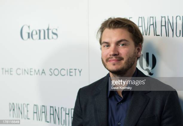 Actor Emile Hirsch attends The Cinema Society And Gents Host A Screening Of Magnolia Pictures' 'Prince Avalanche' at Landmark Sunshine Cinema on July...