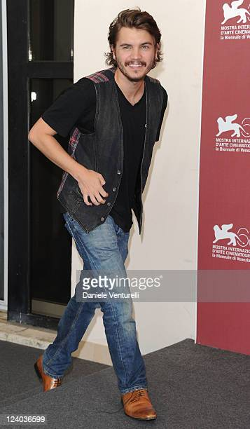Actor Emile Hirsch attends the Killer Joe Photocall during the 68th Venice International Film Festival at Palazzo del Casino on September 8 2011 in...