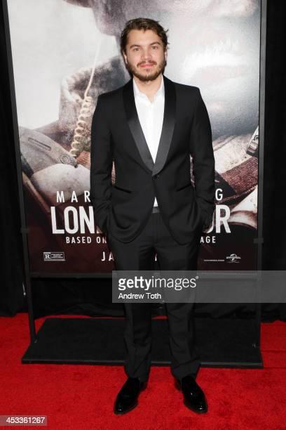 Actor Emile Hirsch attends the 'Lone Survivor' New York premiere at Ziegfeld Theater on December 3 2013 in New York City