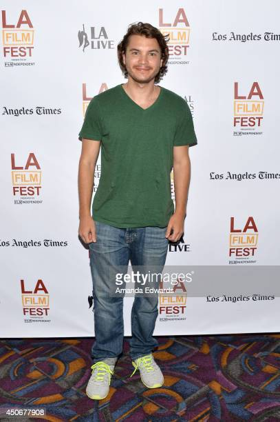 """Actor Emile Hirsch attends the premiere of """"Holbrook/Twain: An American Odyssey"""" during the 2014 Los Angeles Film Festival at Regal Cinemas L.A. Live..."""