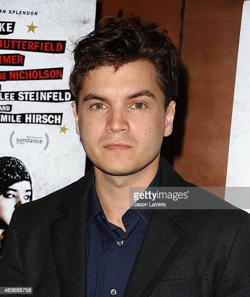 Actor Emile Hirsch attends the premiere of 'Ten Thousand Saints' at Piknic on August 11 2015 in Century City California