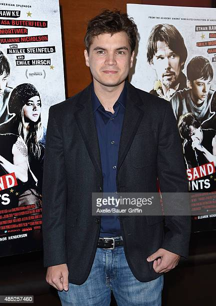 Actor Emile Hirsch attends the premiere of 'Ten Thousand Saints' at Piknic on August 11, 2015 in Century City, California.