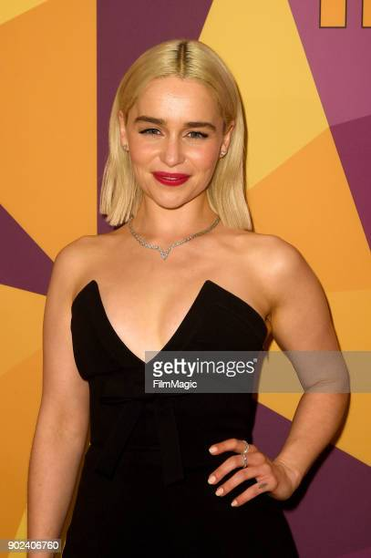 Actor Emilia Clarke attends HBO's Official 2018 Golden Globe Awards After Party on January 7 2018 in Los Angeles California