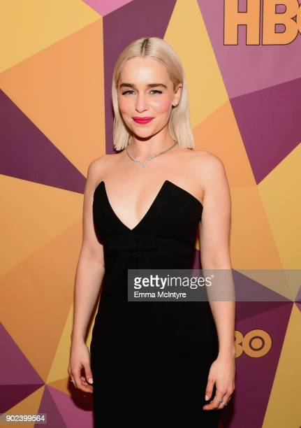 Actor Emilia Clarke attends HBO's Official Golden Globe Awards After Party at Circa 55 Restaurant on January 7 2018 in Los Angeles California